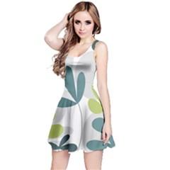 Elegant floral design Reversible Sleeveless Dress
