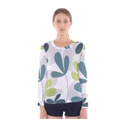 Elegant floral design Women s Long Sleeve Tee