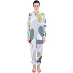 Elegant floral design Hooded Jumpsuit (Ladies)