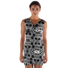 CYBER CELECT Wrap Front Bodycon Dress