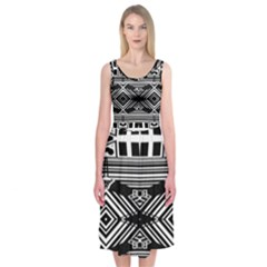 Si Ber Linx Midi Sleeveless Dress