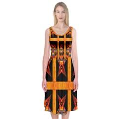 SUGER BUNNY Midi Sleeveless Dress