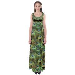 Peacocks Are The Best Empire Waist Maxi Dress