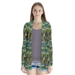Peacocks Are The Best Drape Collar Cardigan