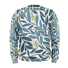 Blue floral design Men s Sweatshirt