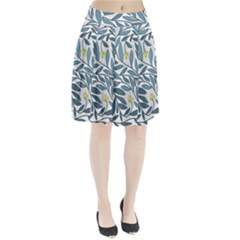 Blue floral design Pleated Skirt