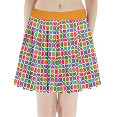 Modernist Floral Tiles Pleated Mini Skirt