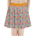 Modernist Floral Tiles Pleated Mini Skirt View1