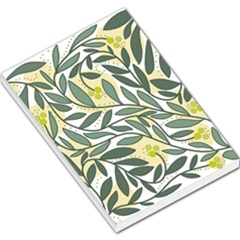 Green floral pattern Large Memo Pads