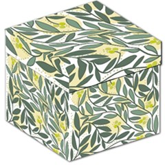 Green floral pattern Storage Stool 12