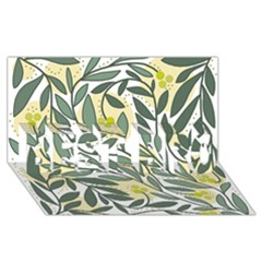 Green Floral Pattern Best Bro 3d Greeting Card (8x4)