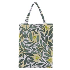 Green floral pattern Classic Tote Bag