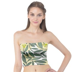 Green floral pattern Tube Top