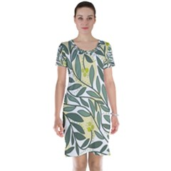 Green floral pattern Short Sleeve Nightdress