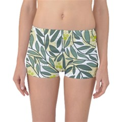 Green floral pattern Boyleg Bikini Bottoms