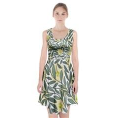 Green floral pattern Racerback Midi Dress