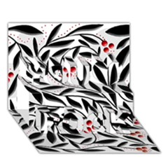 Red, black and white elegant pattern You Rock 3D Greeting Card (7x5)
