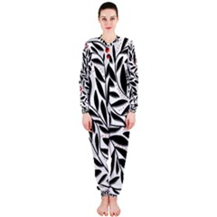 Red, black and white elegant pattern OnePiece Jumpsuit (Ladies)