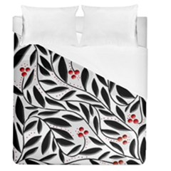 Red, Black And White Elegant Pattern Duvet Cover Single Side (queen Size)