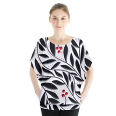Red, black and white elegant pattern Blouse