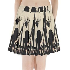 30 Sexy Conte Sketch Girls In Room Naked Ass Butts Shadows Pleated Mini Skirt