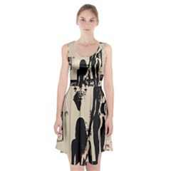 30 Sexy Conte Sketch Girls In Room Naked Ass Butts Shadows Racerback Midi Dress