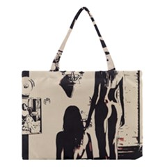 30 Sexy Conte Sketch Girls In Room Naked Ass Butts Shadows Medium Tote Bag