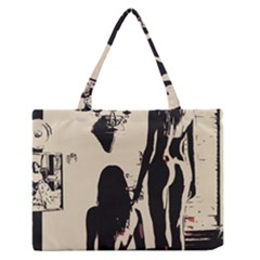 30 Sexy Conte Sketch Girls In Room Naked Ass Butts Shadows Medium Zipper Tote Bag