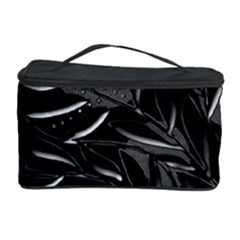 Black floral design Cosmetic Storage Case