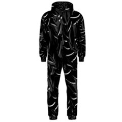 Black floral design Hooded Jumpsuit (Men)