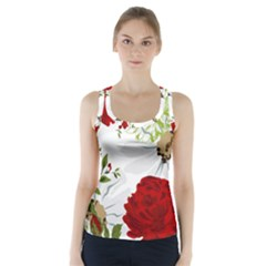 Red roses Racer Back Sports Top