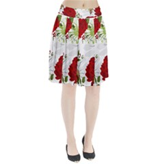 Red Roses Pleated Skirt