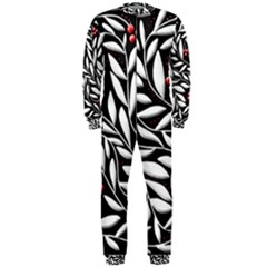 Black, red, and white floral pattern OnePiece Jumpsuit (Men)