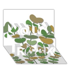 Green decorative plant You Rock 3D Greeting Card (7x5)