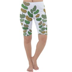 Green decorative plant Cropped Leggings