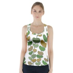 Green decorative plant Racer Back Sports Top