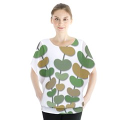 Green decorative plant Blouse