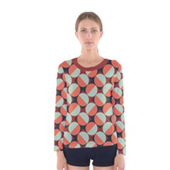 Modernist Geometric Tiles Women s Long Sleeve Tee