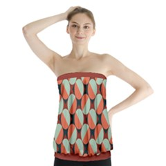 Modernist Geometric Tiles Strapless Top