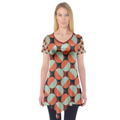 Modernist Geometric Tiles Short Sleeve Tunic