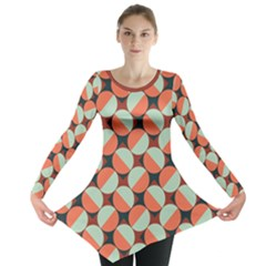 Modernist Geometric Tiles Long Sleeve Tunic
