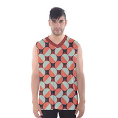 Modernist Geometric Tiles Men s Basketball Tank Top