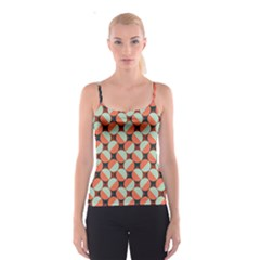 Modernist Geometric Tiles Spaghetti Strap Top