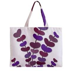 Purple decorative plant Zipper Mini Tote Bag