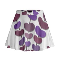 Purple decorative plant Mini Flare Skirt
