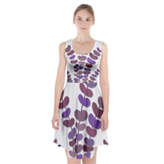 Purple decorative plant Racerback Midi Dress