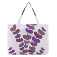 Purple Decorative Plant Medium Tote Bag
