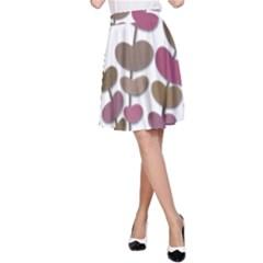 Magenta decorative plant A-Line Skirt