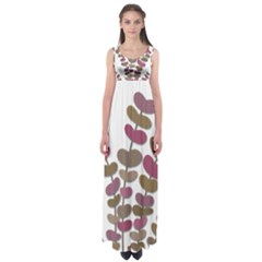 Magenta decorative plant Empire Waist Maxi Dress