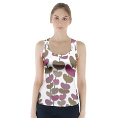 Magenta decorative plant Racer Back Sports Top
